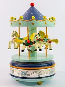 picture of merry-go-round  - sky blue merry - JPG