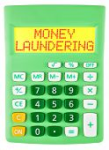 Calculator With Money Laundering Isolated