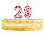 Birthday Cake Candles Number Twenty Nine Isolated