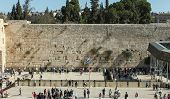 People at the Wailing wall, Jerusalem, Israel