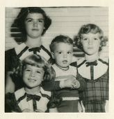 CANADA - CIRCA 1960s: Vintage photo shows group portrait of children.
