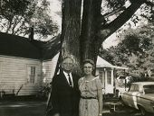 CANADA - CIRCA 1950s: Vintage photo shows portrait of an elderly couple.