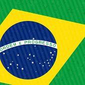 Detail of Brasil Flag