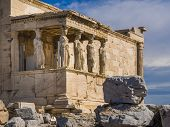 image of akropolis  - Caryatid Porch of Erechtheum at Acropolis - JPG