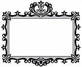 Ornate Black Frame