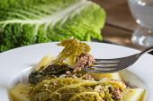 Savoy Cabbage Stew With Potatoes And Ground Beef