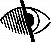 Access for Impaired Vision Eye Symbol
