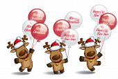 Christmas Elks Balloons
