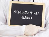 Doctor Shows Information: Stroke Risk In German Language