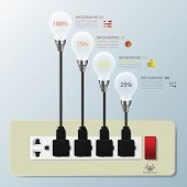 Light Bulb Switch Business Infographic
