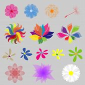Collection Mod Style Vector Flowers