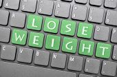 Green lose weight key on keyboard