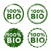 Bio Vector Stamp. 100% Bio