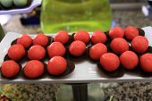 Red Ball Cakes