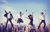 foto of achievement  - Business People Success Achievement City Concept - JPG