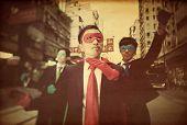 Asian business superheros.