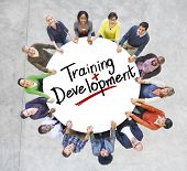 Group of People and word Training Development