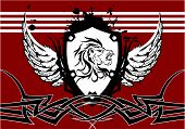 heraldic lion head crest background1