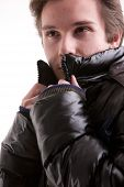 Beautiful Guy In Winter With Anorak