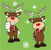 xmas reindeer cartoon expression set9