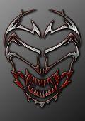 Metal Tribal Alien Skull