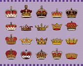 vector set of crowns