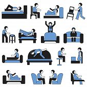 people relax with sofa and chair