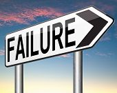 picture of fail job  - failure in test or exam fail in a task job or examination - JPG