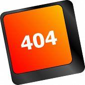 404 Code Button On Keyboard Keys