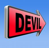 pic of satan  - devil evil satan burn in hell   - JPG