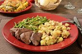 pic of butternut  - Organic roast beef with stuffing green bean and butternut squash casserole - JPG
