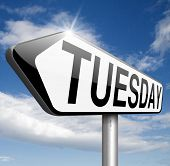 pic of tuesday  - tuesday sign event calendar  - JPG