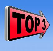 top 3 chart pop poll results ranking of quiz or sport results