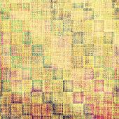 Antique vintage textured background. With different color patterns: yellow, brown, gray, green