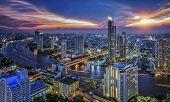 Bangkok City At Night Time