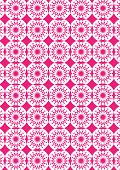 Abstract Kaleidoscopic Repeat Pattern In Red