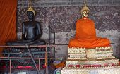 Buddha Golden And Buddha Black In The Wat Sutas
