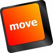 Move Button Word On Keyboard Keys
