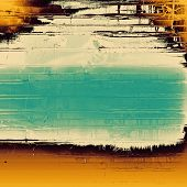 Rough vintage texture. With different color patterns: yellow, brown, orange, gray, blue
