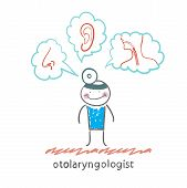 otolaryngologist thinks of the nose, ear and throat