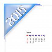 2015 June calendar