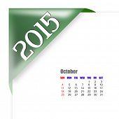 2015 October calendar