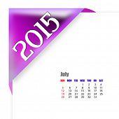2015 July calendar