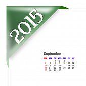 2015 September calendar