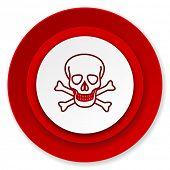 skull icon, death sign