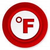 fahrenheit icon, temperature unit sign