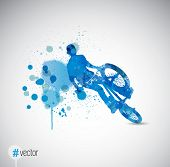 Sport poster background, vector