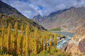 Autumn at Khalti Lake. Ghizer Valley. Northern Pakistan.