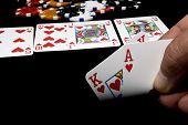 Постер, плакат: В игры в покер