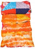 Rolled Silk Batik And Patchwork Scarf Isolated